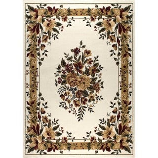 "Home Dynamix Optimum Collection Ivory (3'7"" X 5'2"") Machine Made Polypropylene Area Rug"