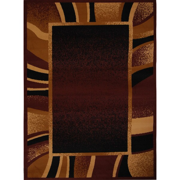 "Home Dynamix Premium Collection Brown (21"" X 35"") Machine Made Polypropylene Accent Rug"