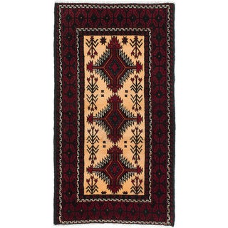Ecarpetgallery Hand-Knotted Persian Finest Baluch Red Wool Rug (2'8 x 5')