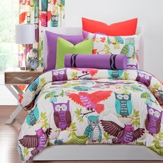 Crayola Owl Always Love You 3-piece Brushed Microfiber Comforter Set