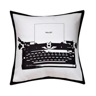 Swift Home Collection Fun Decorative Throw Pillow-typewriter