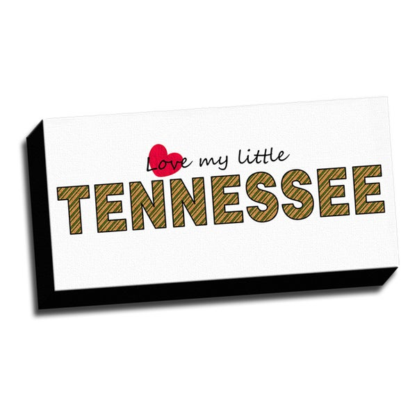 Tennessee Slogan 10x20 Quotes Art Printed on Framed Ready to Hang Canvas