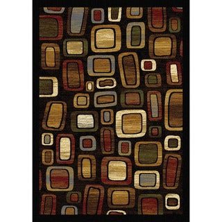 "Home Dynamix Royalty Collection Black-Multi (43""X62"") Machine Made Polypropylene Area Rug"
