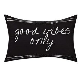 Swift Home Embroidered Cotton Pillow-Good Vibes