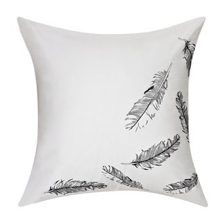 Swift Home Embrodiered Cotton Pillow-Feathers