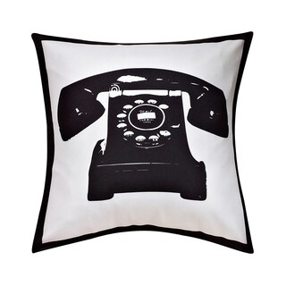 Swift Home Collection Fun Decorative Throw Pillow-telephone