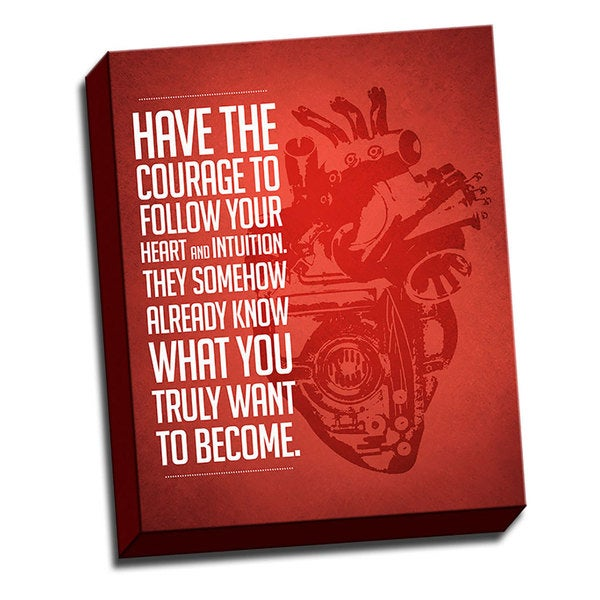 Follow Your HeArt Printed on Ready to Hang Framed Stretched Canvas