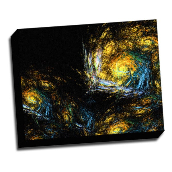Dervish Fractal Printed on Ready to Hang Framed Stretched Canvas