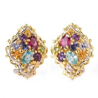 Michael Valitutti Jardin de Bijoux Silver Multi Gemstone Earrings