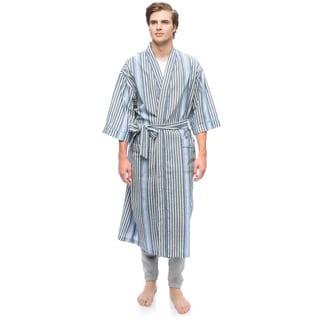 Men's Temperate Textures Kimono Robe