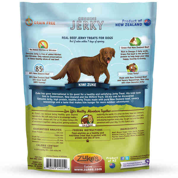 Genuine Jerky Barbeque Dog Treat 4 oz.