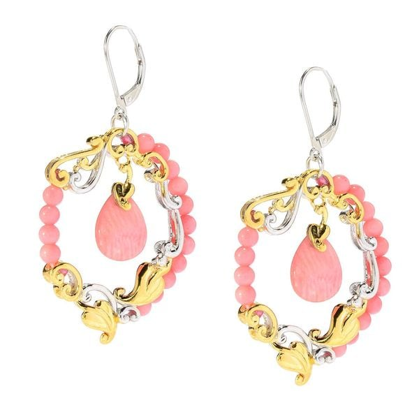 Michael Valitutti Salmon Bamboo Coral Earrings