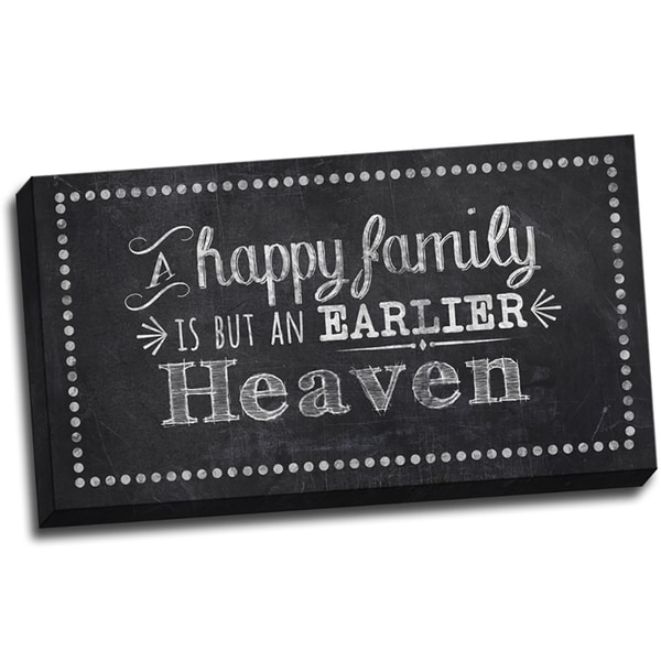 Chalk Quotes Happy Family Chalkboard Quote Textual Art on Wrapped Canvas
