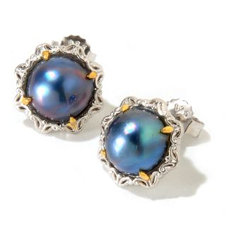 Michael Valitutti Peacock Pearl Earrings