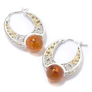 Michael Valitutti Amber with White Sapphire Earrings