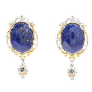 Michael Valitutti Lapis Lazuli and Blue Sapphire Earrings