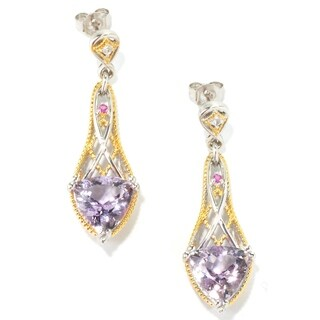 Michael Valitutti Pink Amethyst with Pink and White Sapphire Earrings
