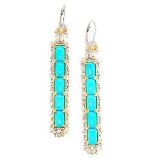 Michael Valitutti Sleeping Beauty Turquoise Rectangle Earrings