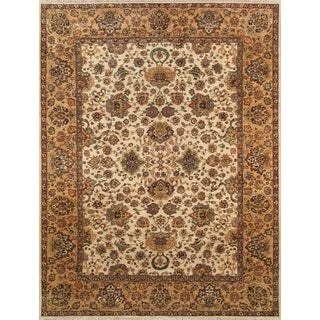 Pasargad Hand-Knotted Classic Agra Ivory/Gold Wool Rug (9' x 12')