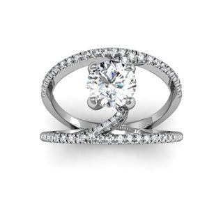 14k White Gold 1 1/2ct TDW Diamond Open Band Engagement Ring (H-I, I1-I2)