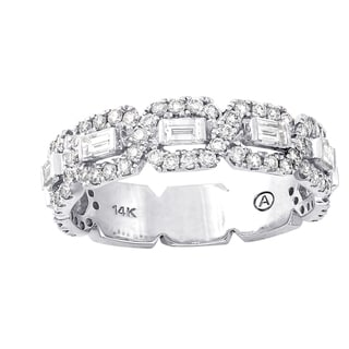 Beverly Hills Charm 14k White Gold 1 1/5ct TDW Diamond Anniversary Band Ring (H-I, SI2-I1)