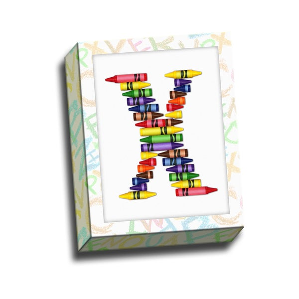 Alphabet Crayon x Kids Printed on Ready to Hang Framed Stretched Canvas