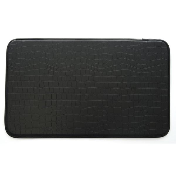 Ashley Roberts Faux Croc Leather Anti-fatigue Kitchen Mat
