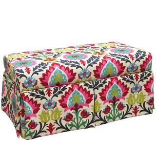 Skyline Furniture Kids Skirted Storage Bench in Santa Maria Desert Flower