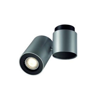 SLV Lighting Enola_B Spot 1 Silver Grey - Black Wall Ceiling Lamp