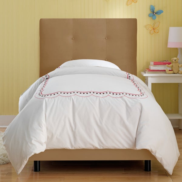 Skyline Furniture Kids Tufted Bed in Premier Saddle
