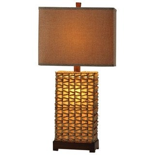 Woven Wicker Table Lamp and Night Light