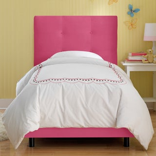 Skyline Furniture Kids Tufted Bed in Premier Hot Pink