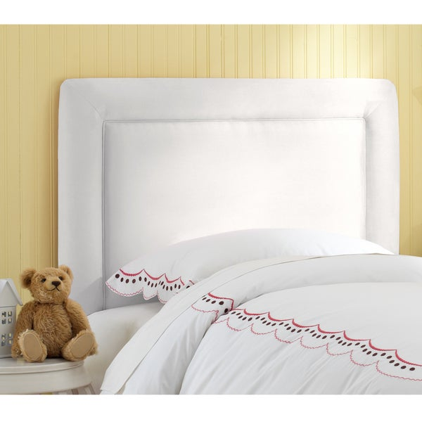 Skyline Furniture Kids Border Headboard in Premier White