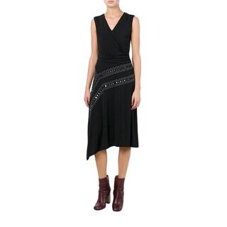 Tory Burch Black Stretch Embellished Dress
