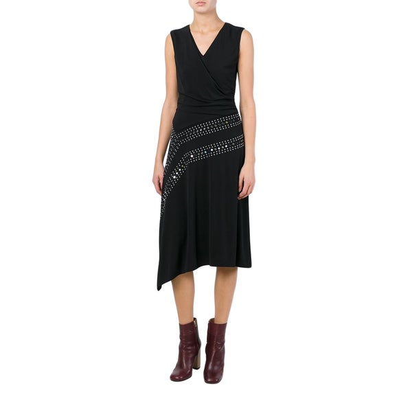 Tory Burch Black Stretch Embellished Dress