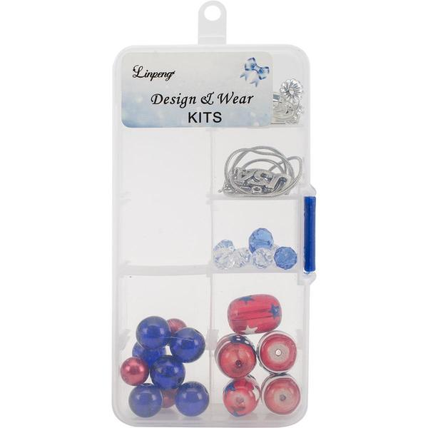 Holiday Bead Kit - Patriotic - Red, White & Blue
