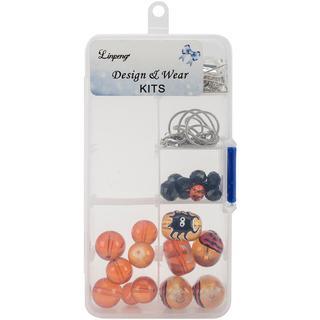 Holiday Bead Kit - Halloween - Black & Orange