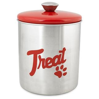 Stainless Steel & Red Top Treat Jar 16oz - Red Top