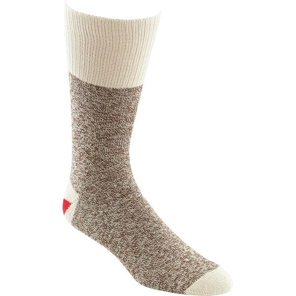 Red Heel Monkey Socks 2 Pairs - Size 8-9 Brown Heather