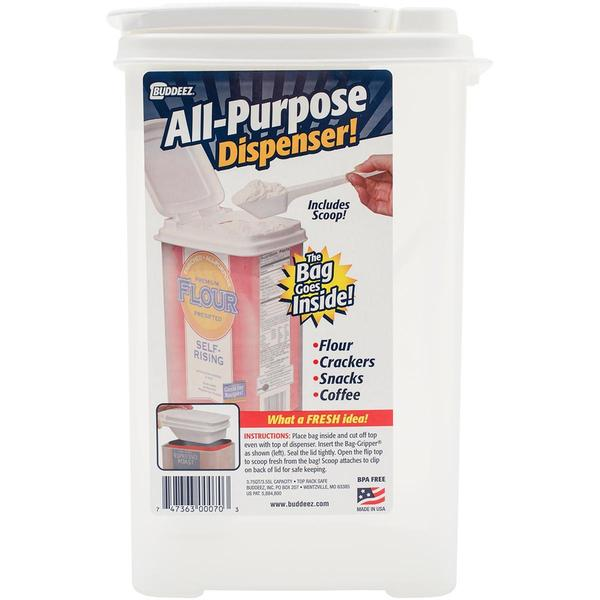 Buddeez 3.75qt Bag-In Flour Dispenser W/Scoop - 10 X6.75 X5