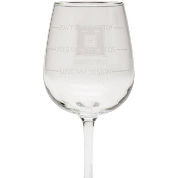 Stitch Happy Wine Glass In Box 12oz - Don't Give A Stitch