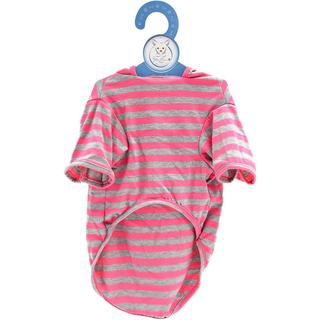 Stellar Pet Boutique Magenta Striped Hoodie - Extra Small