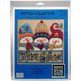 Mitten Collector Counted Cross Stitch Kit - 8 X7.75 14 Count