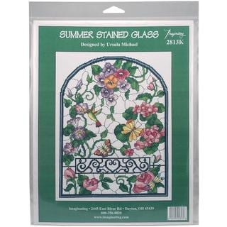 Summer Stained Glass Counted Cross Stitch Kit - 10 X13.25 14 Count
