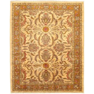 Ecarpetgallery Hand-knotted Chobi Finest Beige and Brown and Multi Wool Rug (7'3 x 9')