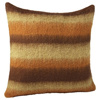 Blended Thick Stripe Mohair Throw Pillow