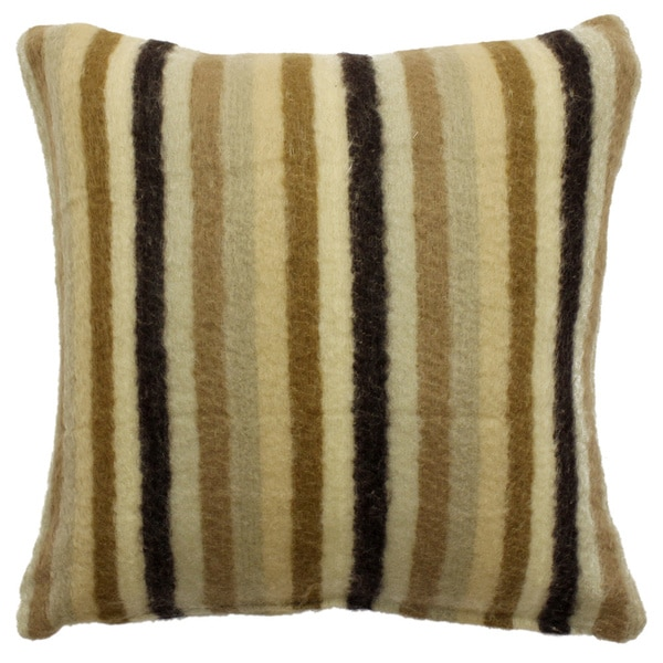 Mohair Thin Striped Throw Pillow