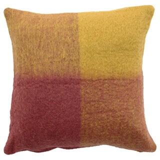 Mohair Checkered Throw Pillow