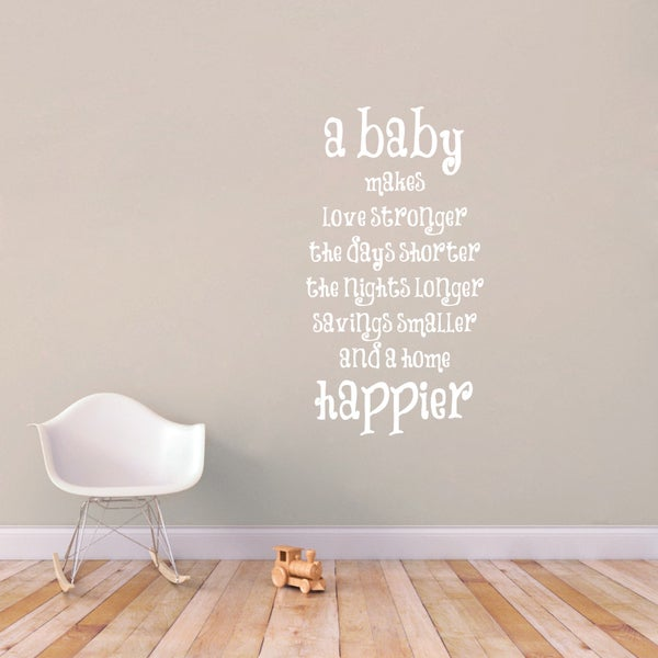 A Baby Makes A Home Happier Large Wall Decal 18085614