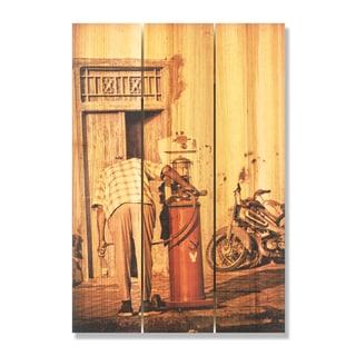 Filler Up 16x24 Indoor/ Outdoor Full Color Cedar Wall Art
